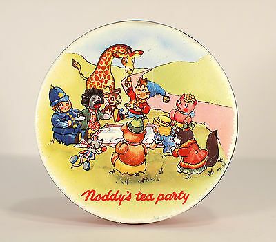 Cute VTG Retro 1960s/70s NODDY 's TEA PARTY Huntley & Palmers BISCUIT Cookie TIN