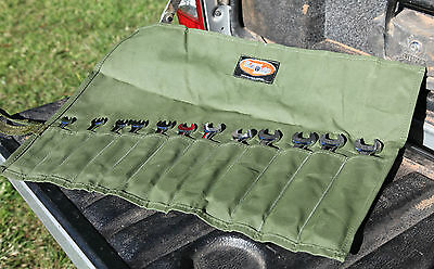 Spanner Tool Roll. Standard. 12 Pocket  Australian made with Australian Canvas.