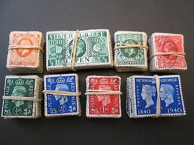 MIXED KINGS X 800 USED STAMPS aprox. 8 BUNDLES X 100.  SALE LOT  #T008