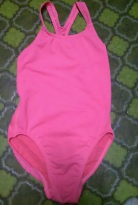 Girls size 14 Hot Watermelon colored speedo racing back bathers  swimmers
