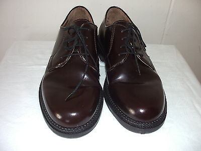 Italian Made Mens Brown Leather Shoes Size 7 Pre-Owned
