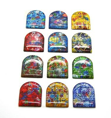 The 12 Tribes of Israel Magnets by Mark Chagall gift set from Jerusalem