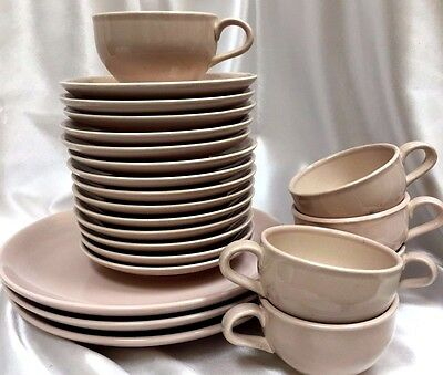 23 pcs Iroquois Casual China by Russel Wright 3 Dinner Plates Cups Saucer Pink