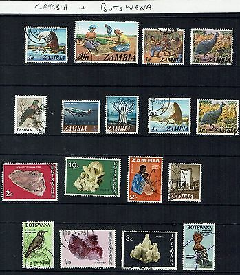 Zambia and Botswana   small  collection    -   auction   starting at 10 cents