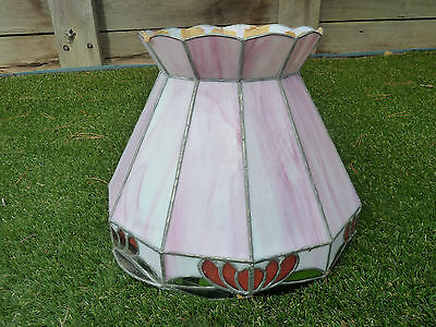 Leadlight lamp shade, Lot 347, Pick up Langwarrin 3910
