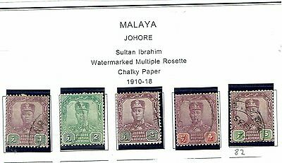 Johore early stamps 1910-19    Johore2
