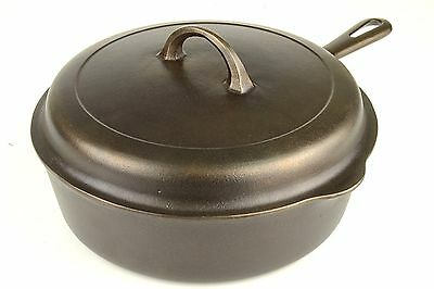 Vintage Small Logo Griswold No 8 (777B) Chicken Fryer Deep Skillet w/Lid Ex Cond