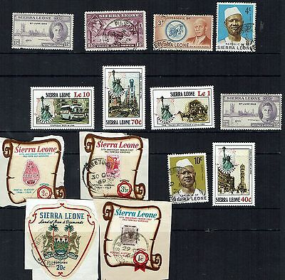 Sierra Leone small  collection    -   auction   starting at 10 cents