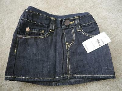 NEW Baby Gap Girls 1969 Denim Jeans Mini Skirt with Bloomers 3-6  months