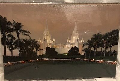 LDS Temple San Diego Canvas Wrapped Photo