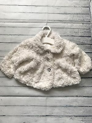 Baby Girls Clothes 0-3  Months - Pretty Fluffy Coat  Jacket
