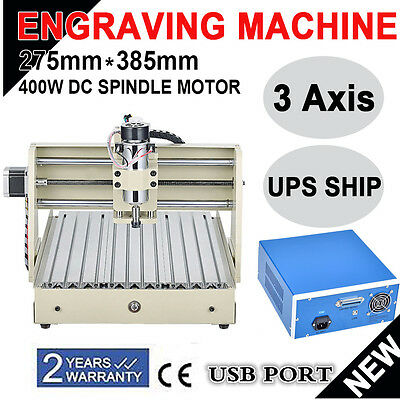 USB 3040 3Axis CNC Router Engraver 400W Engraving Cutter Milling Carving Machine