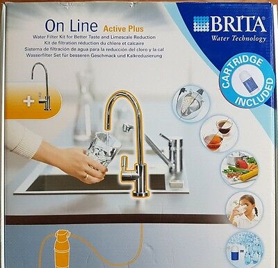 Brita Online Active Plus Kitchen Tap Water Filter Kit inc. Filtration Cartridge