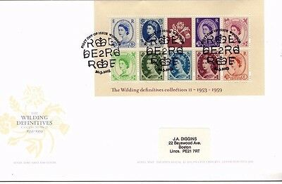 2003 The Wilding Definitives Ii Prestige Booklet Pane Fdc From Collection D23