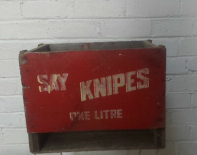 Vintage Rustic Wooden Soft Drink Bottle Crate/Box shabby chic storage farmhouse