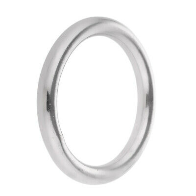 Welded Ring Stainless Steel O Round Ring Circle Craft Webbing Boat Marine