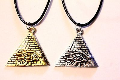 Pyramid Eye Of Horus Ra Symbol Pendant Ancient Egyptian Goddess Charm Necklace