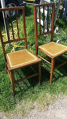 2 antique bedroom chairs