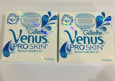 Gillette Venus ProSkin MoistureRich Women's Razor Refill Cartridge 2x 8-Packs