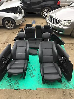BMW 1 SERIES E87 M Sport Black Leather Interior Seats with Airbag Door Cards