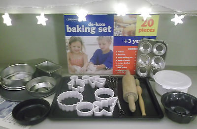 Progress De-Luxe BAKING SET for Kids 20 Pieces plus free APRON