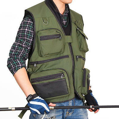 Outdoor Fishing Vest Photography Outdoor Fishing Gear Vest with Many Pockets New