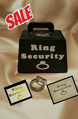 Wooden Ring Security Box, Ring Bearer, Page Boy, Wedding Rings