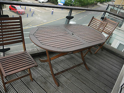Wooden Garden Furniture With Table and Six Chairs