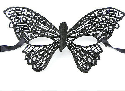 Black Lace Eye Mask Masquerade Ball Halloween Party Fancy Dress Costume US # 12