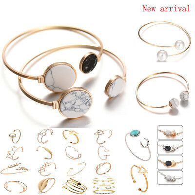 Fashion Women Elegant Silver/Gold Plated Charm Bracelet Bangle Gift Hot Jewelry