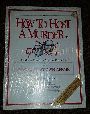 Vintage Great Game How to host a murder The Watersdown Affair NEW in box SEALED
