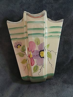 Wall Pocket Vase by Arthur Wood - 4 chambers - decorated in flowers - Art Deco