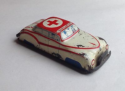 GLAM TOYS PRODUCTS GTP - vintage tinplate - GTP 532, AMBULANCE - 1950s