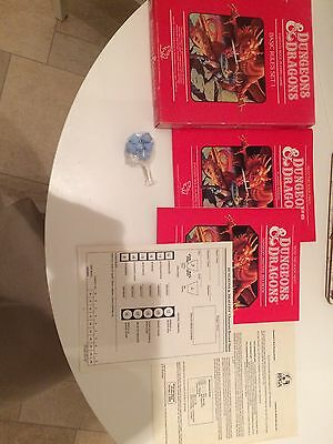 Dungeons & Dragons D&D Set 1 Basic Rules 1011 TSR - 2 Books & 6 Dice