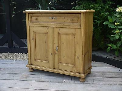 Gorgeous! Old Antique Waxed Pine Dresser Base/sideboard/cupboard/cabinet