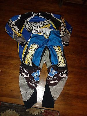 Answer Racing Motocross Pants And Jersey Outfit Uniform Mens Waist Size 32