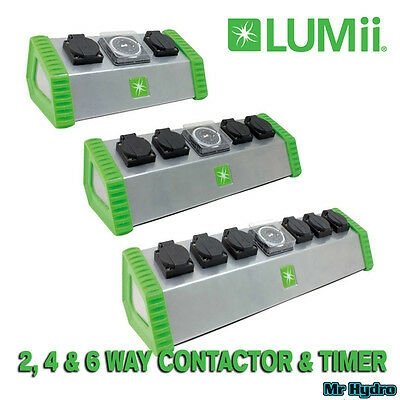 Lumii 2 way 4 way & 6 way Contactor with In-Built Grasslin Timer 2-4-6 gang