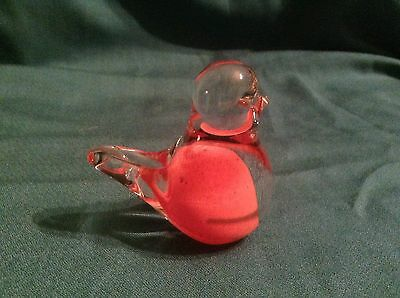 Hand Blown Glass Ornament or Paperweight Signed 7.5cm Height