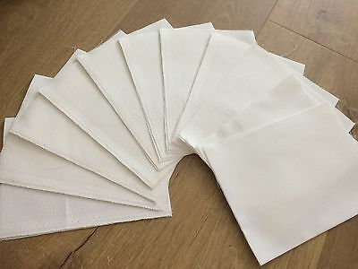 16ct white aida fabric bundle/bulk lot - 15 pieces - 28 x 19 cm each