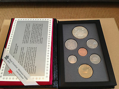 1989 Royal Canadian Mint 7-Coin Proof Set in Original Leather Book - RCM Issue