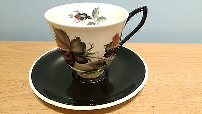 Royal Albert Masquerade Bone China Coffee Cup & Saucer. Excellent Condition.