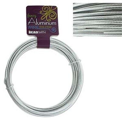 Aluminum Wire Fancy Embossed Silver 12 Gauge 43034 39ft Round Shiny
