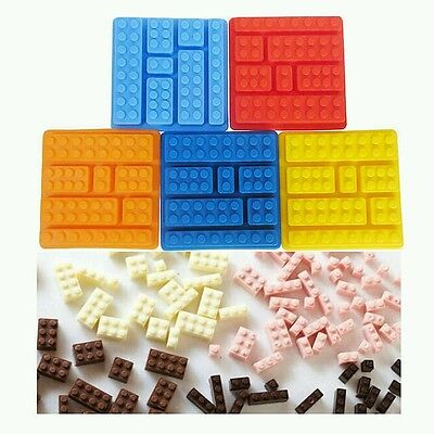 RED Lego mold Building bricks silicone cake mould FREE 1st Class Post!!