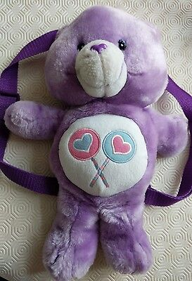 care bear 2003 back pack share bear retro / vintage/collectable