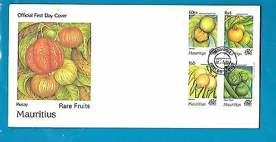 Rare  Fruits  Of Mauritius.first Day Cover &leaflet, Unaddress,mint. 1997.rare