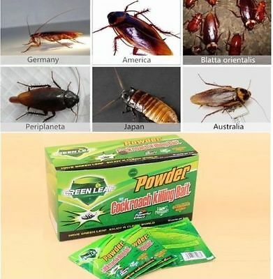 50pc Powder Cockroach Killing Bait Roach Killer Effective Miraculous Insecticide