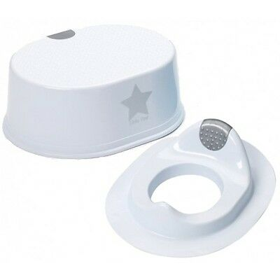 Strata Deluxe Toddler Toilet Training Seat And Step Stool Silver Lining