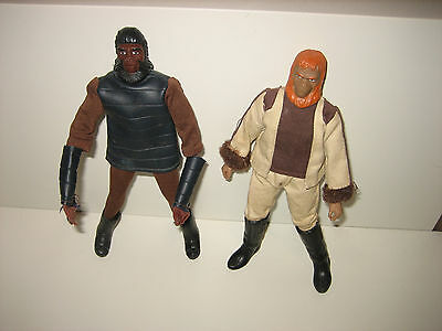 MEGO PLANET OF THE APES SOLIDER APE & DR. ZAIUS TYPE 1 Metal Bodies- 1971