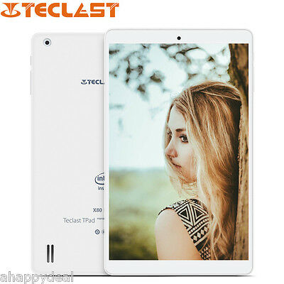 "Teclast X80 Pro 8"" Tableta PC Windows 10 Android 5,1 WiFi Intel 2+32GB Quad Core"