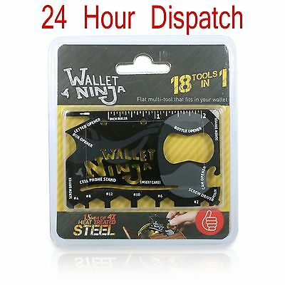 Wallet Ninja 18 in 1 OFFICIAL Credit Card Multi-Tool